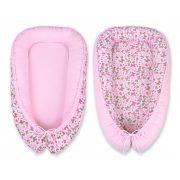 BabyLion Prémium babafészek -   Kifordítható!  -  Rózsaszín - Pillangók