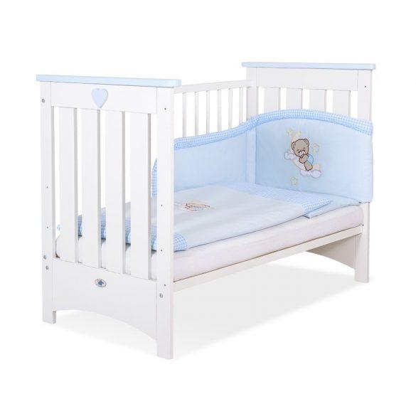 BabyLion Prémium kiságy - 60x120 - fehér-kék