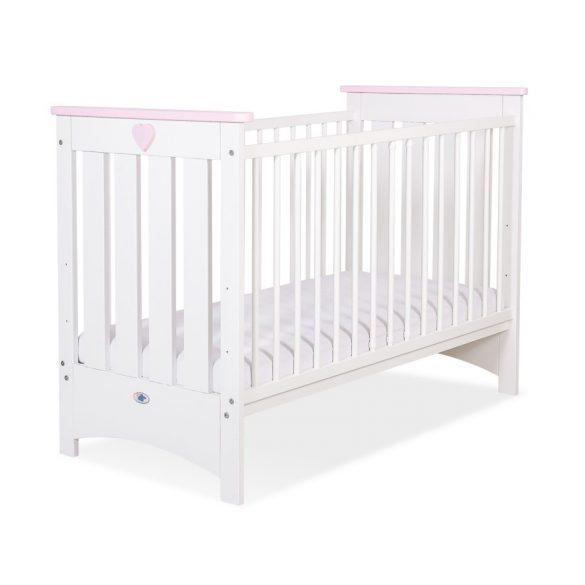BabyLion Prémium kiságy - 60x120 - fehér-rózsaszín