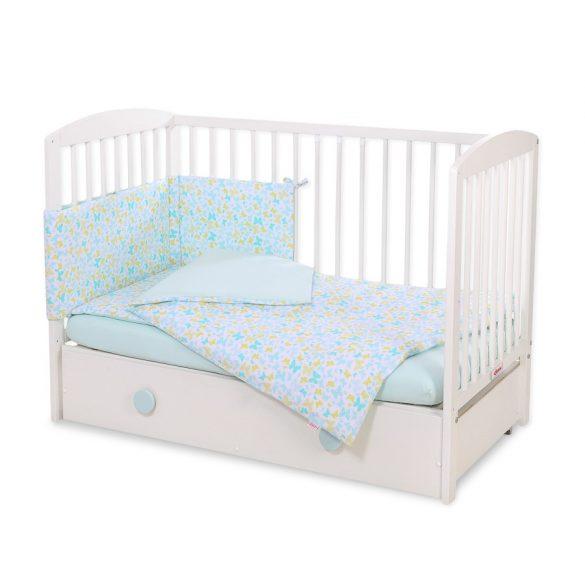 BabyLion Prémium 5 részes ágynemű szett - Kék pillangók
