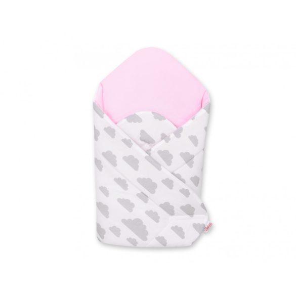 BabyLion Prémium merevített pólya - Rózsaszín - felhők