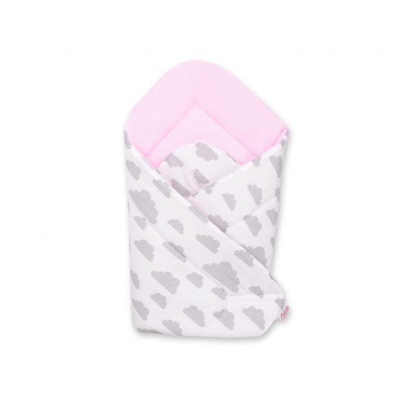 BabyLion Prémium pólya - Rózsaszín - Szürke felhők