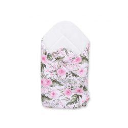 BabyLion Prémium pólya - Fehér - Virágok