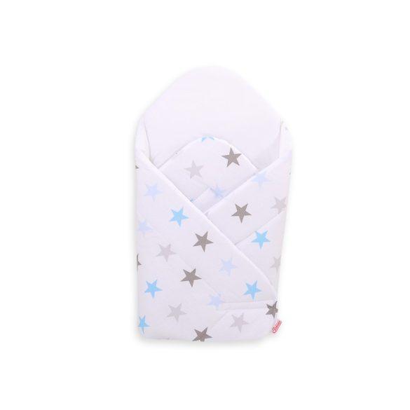 BabyLion Prémium pólya - Fehér - Kék csillagok