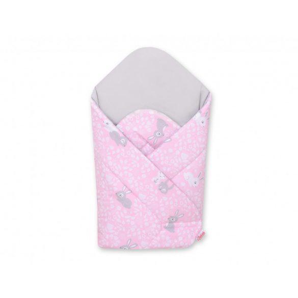 BabyLion Prémium merevített pólya - Rózsaszín nyuszik