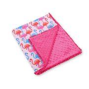 BabyLion Prémium pom-pom takaró Minky - Rózsaszín - Flamingo  !! KIFUTÓ !!