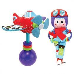 Yookidoo csörgő játék - Pilóta repülővel  0h+  !! KIFUTÓ !!