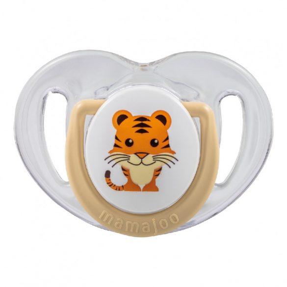 Mamajoo Ortodontikus cumi tárolódobozzal  12h+  - Bézs tigris