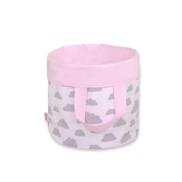 BabyLion Prémium Kifordítható Játéktároló - L - Rózsaszín felhők