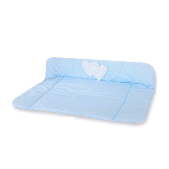 BabyLion Prémium Textil pelenkázó lap - Kék csíkos - Szivecske