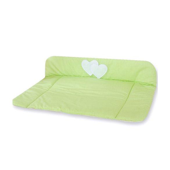 BabyLion Prémium Textil pelenkázó lap - Zöld - Szivecske  !! KIFUTÓ !!