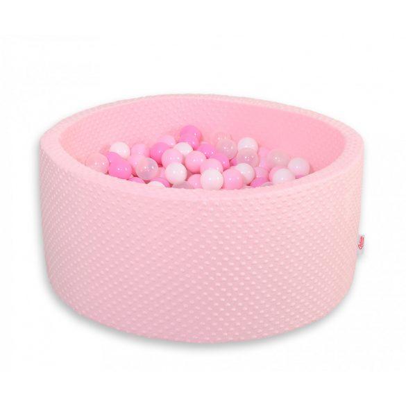 BabyLion Prémium labdamedence Minky - Rózsaszín-fehér