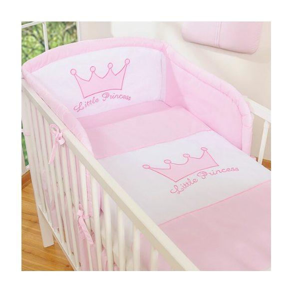 BabyLion Prémium 3 részes ágyneműszett - Little Princess - Rózsaszín
