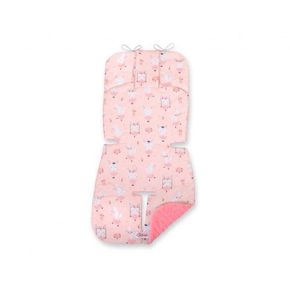 BabyLion Prémium babakocsi betét - Balerina nyuszik - rózsaszín