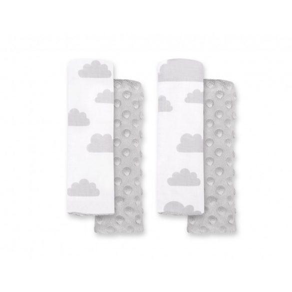 BabyLion Prémium Biztonsági öv védő - Minky - Szürke felhők