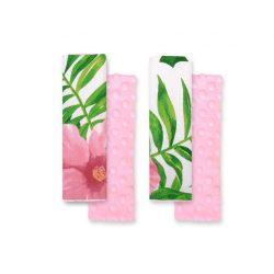 BabyLion Prémium Biztonsági öv védő - Minky - Trópusi virágok