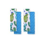 BabyLion Prémium Biztonsági öv védő - Minky - Zöld kaktuszok