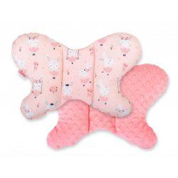 BabyLion Prémium Minky pillangó párna - Balerina nyuszik - Barack