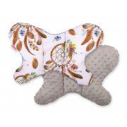 BabyLion Prémium Minky pillangó párna -  Barna - álomfogó