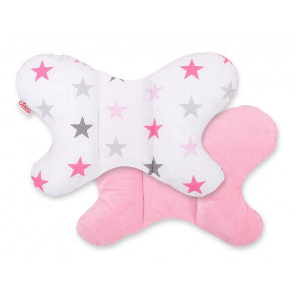 BabyLion Prémium pillangó párna - Rózsaszín csillagok