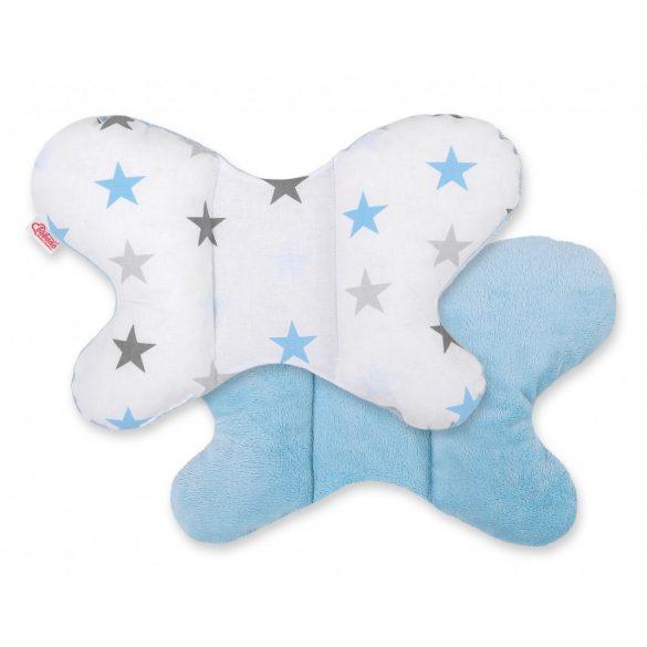 BabyLion Prémium pillangó párna - Kék csillagok
