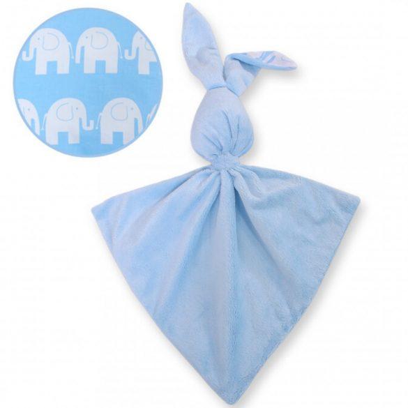 BabyLion Prémium nyuszis szundikendő - Kék elefántok