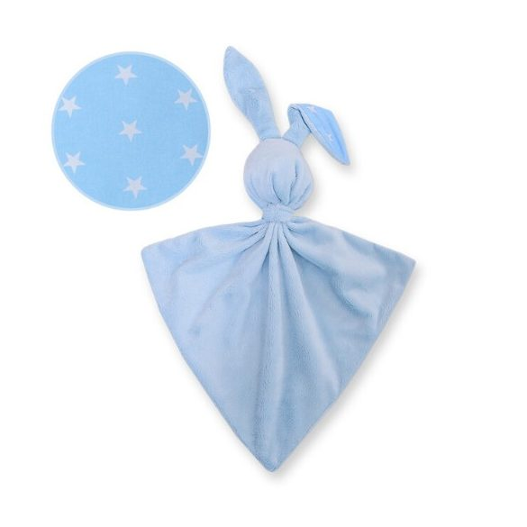 BabyLion Prémium nyuszis szundikendő - Kék csillagok