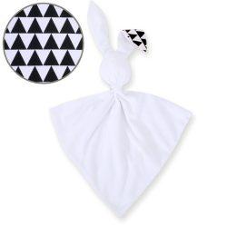 BabyLion Prémium nyuszis szundikendő - Fehér - Fekete-fehér 3szögek