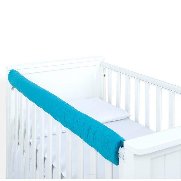 MTT Velvet kiságyvédő felső részre - Pasztell kék