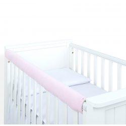 MTT Velvet kiságyvédő felső részre - Világos rózsaszín