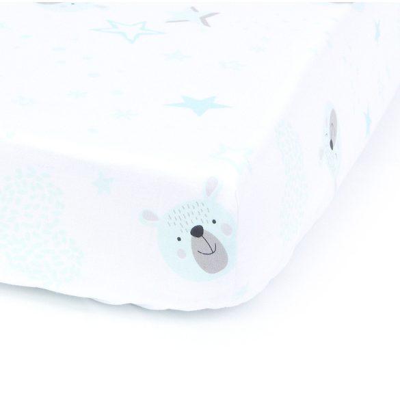 MTT Gumis lepedő 60x120 - Fehér alapon kék macik