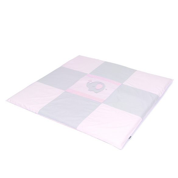 MTT Textil játszószőnyeg 120x120 - Szürke-Rózsaszín elefánttal