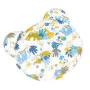 MTT Mackó párna - Fehér alapon sárga és kék állatkák