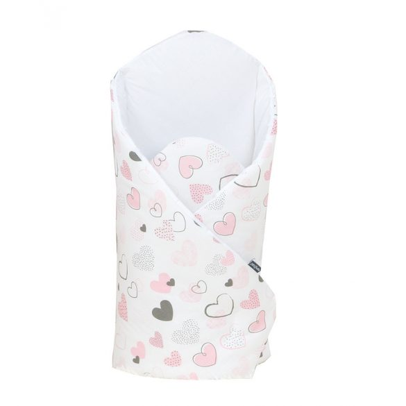 MTT Pólya - Fehér alapon - Rózsaszín szívecskék
