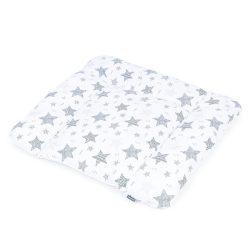 MTT Puha pelenkázó lap 70x75 - Fehér alapon - Szürke csillagok