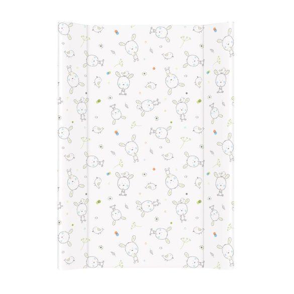 MTT Merev pelenkázó lap 50x70 - Fehér - Szürke nyuszik