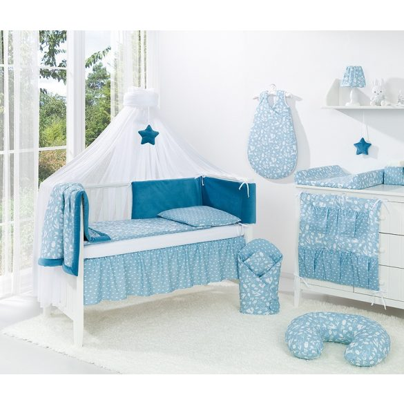 MTT Velvet Baldachin függöny - Kék csillaggal