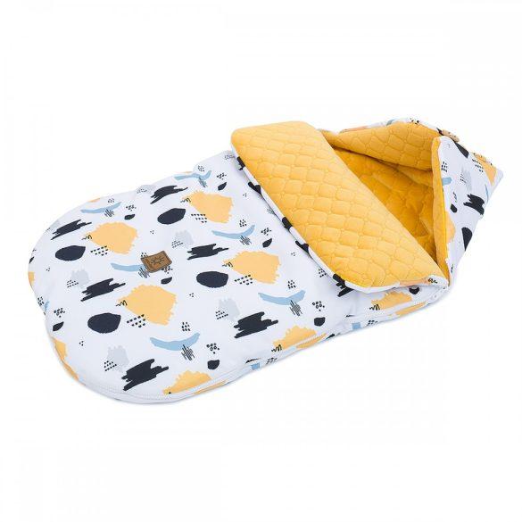 MTT Őszi bundazsák (0-12 hónapos) - Fekete alapon sárga és kék minták