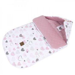 MTT Őszi bundazsák - Rózsaszín szívecskék (0-12 hónapos)