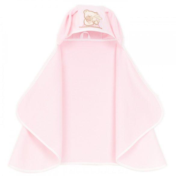 MTT Kapucnis nyuszifüles fürdőlepedő - Rózsaszín