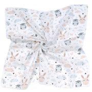 MTT Kis textil pelenka  3 db - Fehér alapon bagoly és nyuszi