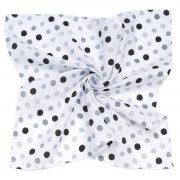 MTT Nagy textil pelenka (120x120) - Fehér alapon fekete és szürke pöttyök