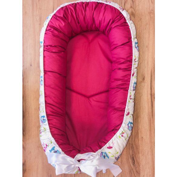 BabyLion Babafészek kifordítható - Rózsaszín - Baglyok